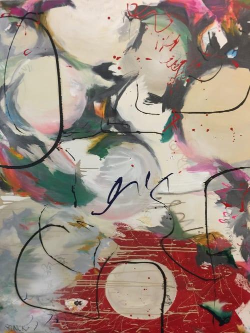 "Paintings by Julie Shunick Brown seen at Crespi-Hicks Estate, Dallas - ""Lanterns"""