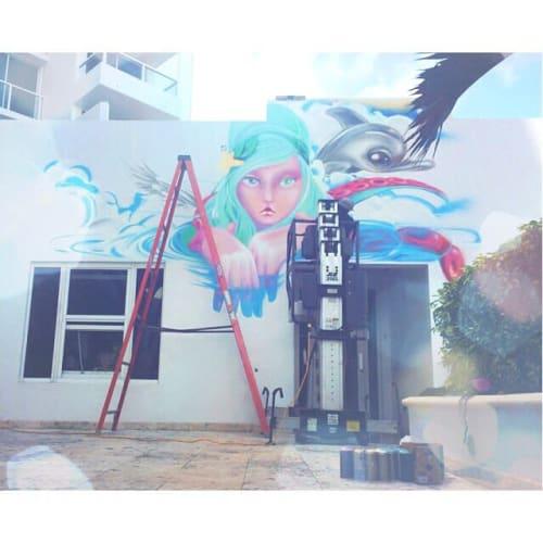 Murals by Yuhmi Collective seen at Marriott Stanton South Beach, Miami Beach - Yummy Mermaid