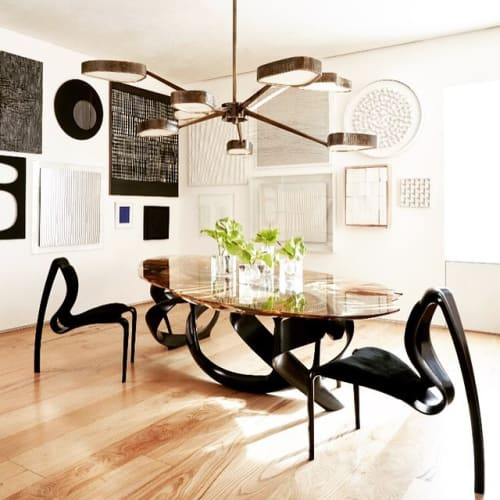 Chairs by Joseph Walsh Studio seen at Park Avenue Triplex Penthouse, New York - Enignum Chair and Dining Table