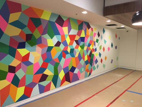 Murals by Kristin Farr seen at Pinterest, San Francisco - Colorful Wall Painting