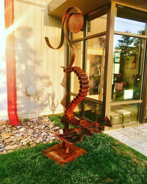 Public Sculptures by Gerald K Stoner seen at Switchback Brewing Co., Burlington - Mermaid