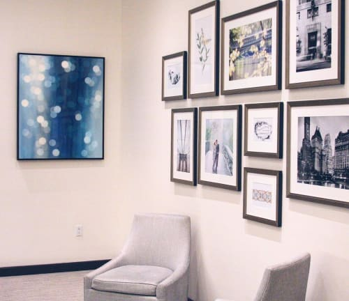 Paintings by Rachelle Kearns seen at Tiffany & Co., Calgary - Waterfall