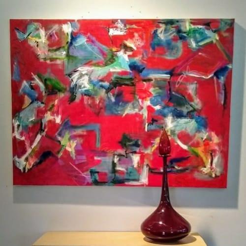 "Paintings by Julie Shunick Brown seen at Creator's Studio, Dallas - ""Reassembling"""