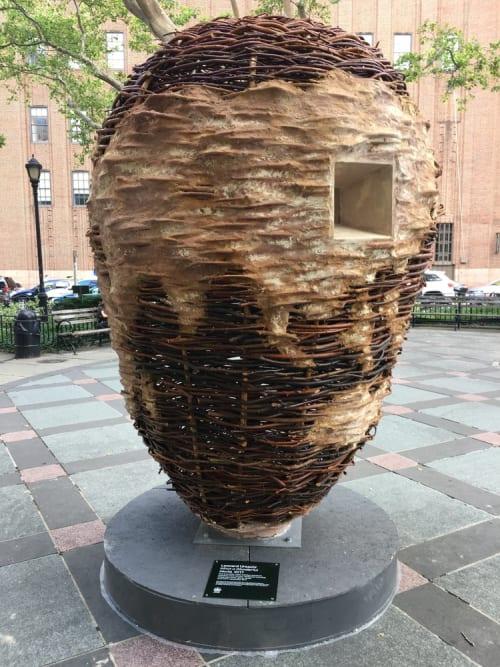 Public Sculptures by Leonard Ursachi seen at Tribeca Park, New York - What A Wonderful World