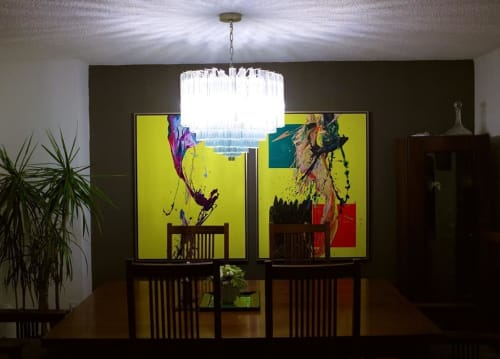 Paintings by Peter Triantos seen at Private Residence, Toronto - SP2 #83 and #84