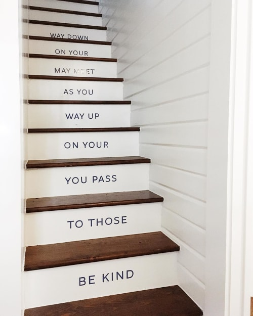 Signage by Joe Swec seen at Green Pastures Events, Austin - Iconic Staircase