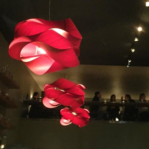 Lighting by LZF Lamps seen at Maven, San Francisco - Link (Red)