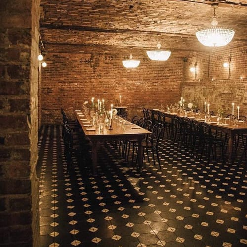 Tiles by Avente Tile at Wythe Hotel, Brooklyn - Mission Octagonal Cement Tile