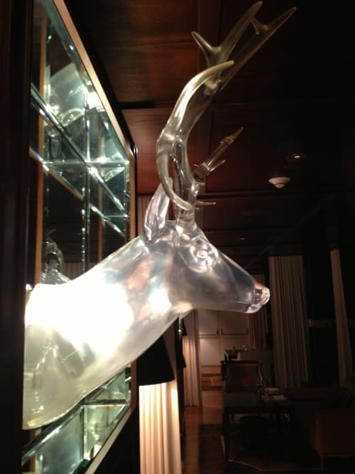 Lighting by Philippe Starck seen at SLS Hotel, a Luxury Collection Hotel, Beverly Hills, Los Angeles - Lucite Stag Heads