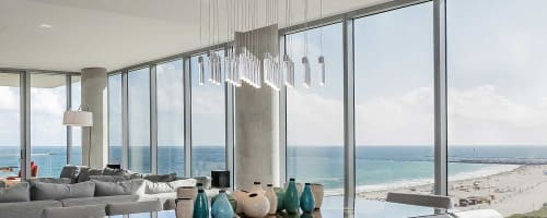 Chandeliers by Archilume seen at Private Residence, Miami Beach - P28 Chandelier
