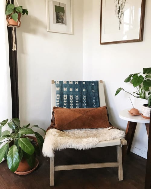 Pillows by Amber Seagraves seen at Private Residence, Los Angeles - Axel Fringe PIllow