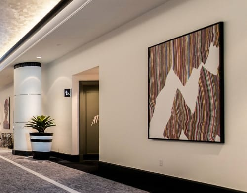 Paintings by James Jankowiak seen at Loews Miami Beach Hotel, Miami Beach - It All Starts Here