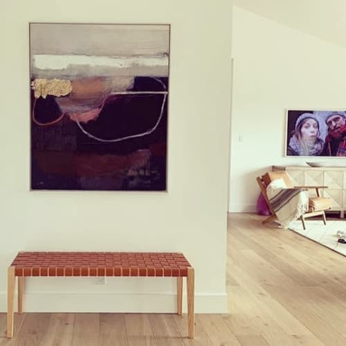 Paintings by Ele Pack seen at Private Residence, San Francisco - Above & Below