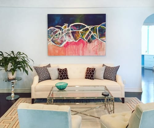 Paintings by Elisa Gomez Art seen at Private Residence, Los Angeles - Am I Free II
