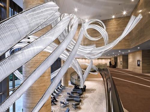 Sculptures by Nikolas Weinstein seen at Courtyard by Marriott Hong Kong Sha Tin - Lobby Glass Sculptures
