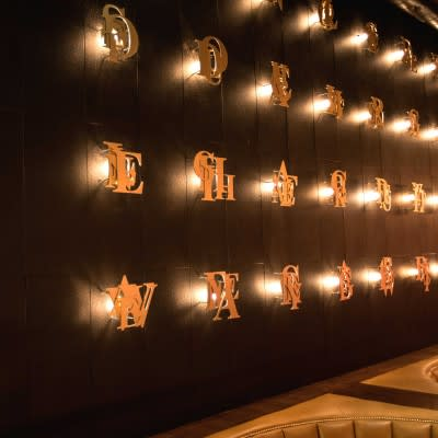 Sculptures by Roy Nachum seen at 1 OAK, West Hollywood - Light and Text