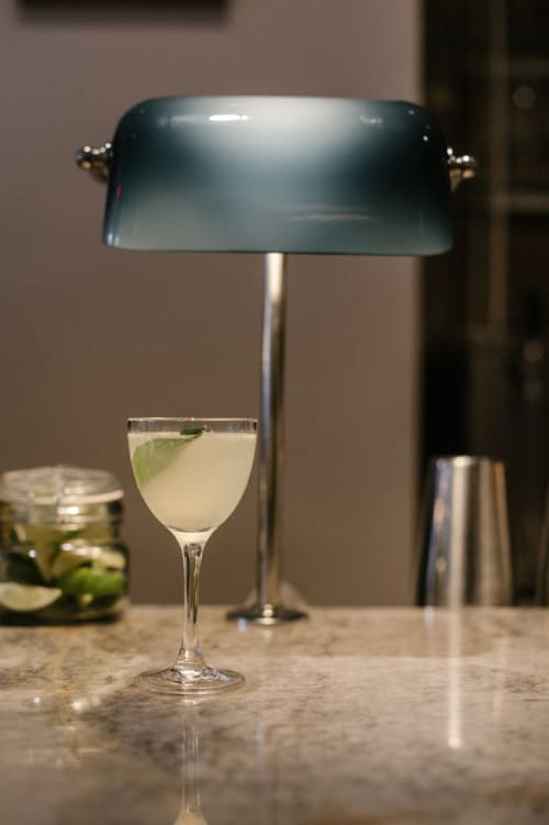 Lighting by Elizabeth Roberts Architecture & Design seen at Nix, New York - Custom Bar Lights