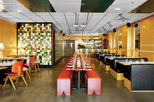 Tiles by Studio Robert McKinley seen at Tijuana Picnic, New York - Mexican-Style Tiles