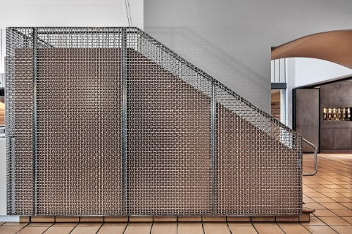 Hardware by Banker Wire at Domaine Chandon, Coldstream - Woven Stainless Steel Mesh