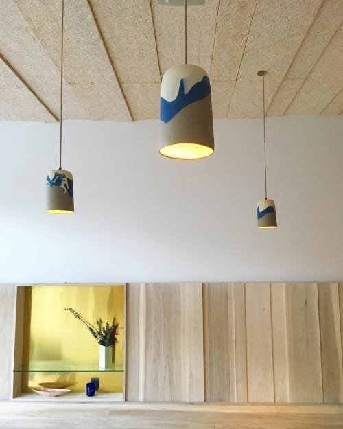 Pendants by Helen Levi seen at Kismet, Los Angeles - Porcelain Pendant Lights