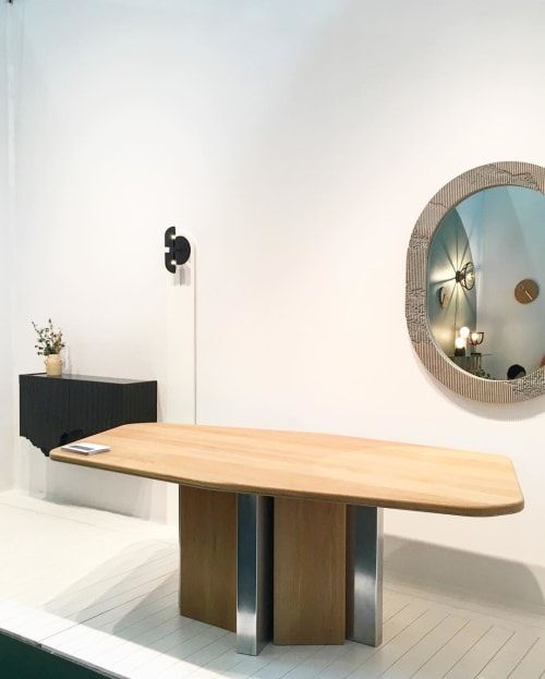 Tables by Simon Johns seen at Piers 92/94, New York - Diamond Table