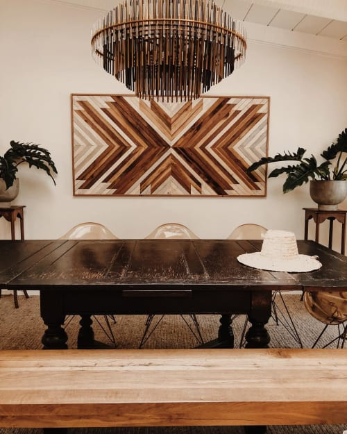 Wall Hangings by Aleksandra Zee at Private Residence, San Francisco - Geometric Wood Artwork