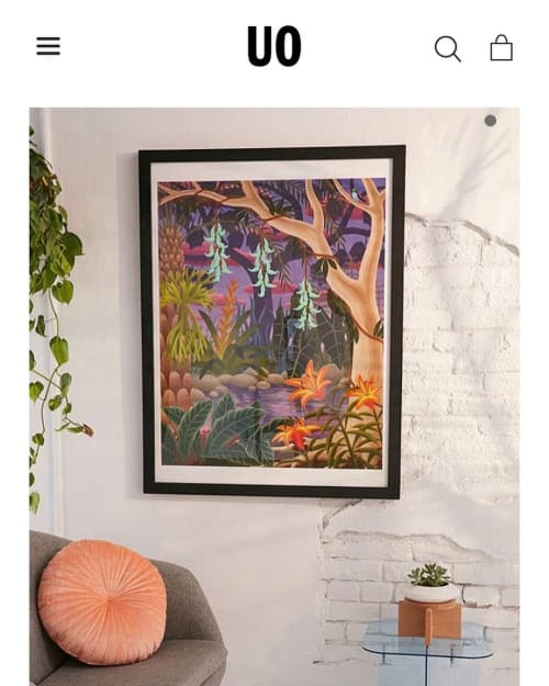 Paintings by Amy Lincoln at Private Residence, Brooklyn - Jungle with Jade Vine