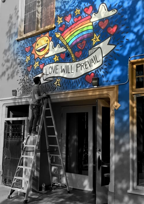 Street Murals by Elliott C Nathan seen at 777 Valencia St, San Francisco, CA, San Francisco - Love Will Prevail