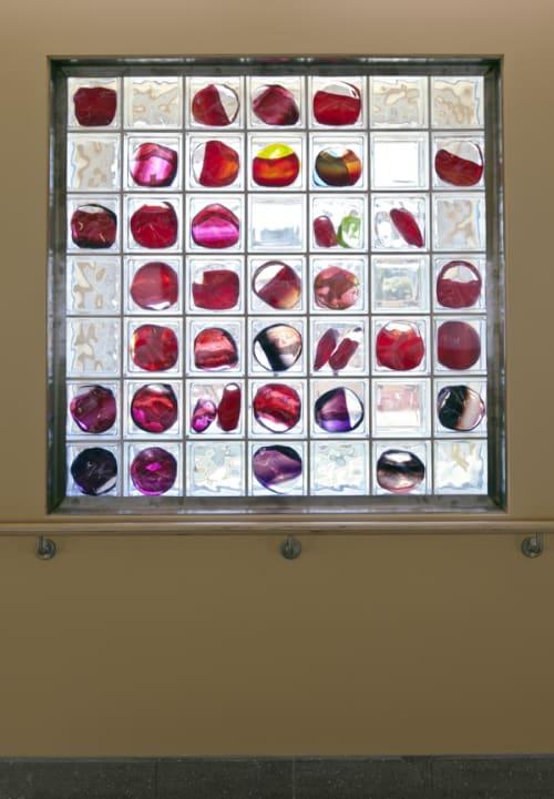 Wall Hangings by Arlan Huang seen at Laguna Honda Hospital and Rehabilitation Center, San Francisco - Glass Block Windows