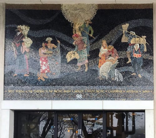 Murals by Millard Owen Sheets seen at Chase Bank, 98 West Portal Avenue, SF, San Francisco - Home Savings Mural