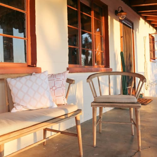 Chairs by West Elm at The Joshua Tree House, Joshua Tree - Dexter Outdoor Dining Chair