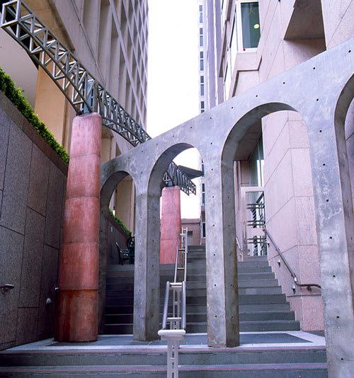 Public Sculptures by Kent Roberts at 600 California, San Francisco - Three Bridges