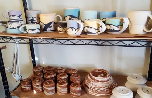 Cups by Sierraclayart seen at Private Residence, South Lake Tahoe - Mountain Mugs