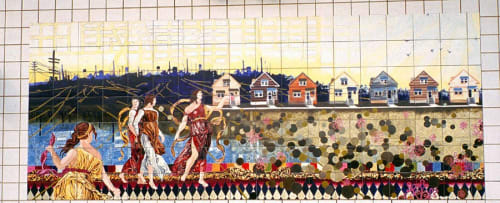 Public Mosaics by Nicole Gordon seen at 54th/Cermak Station, Cicero - 54th Cermak Station