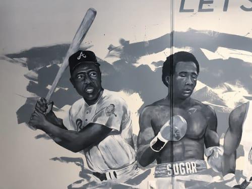 Murals by Josh Scheuerman seen at The Bigelow, Ogden - 'Lets Be Great' Mural