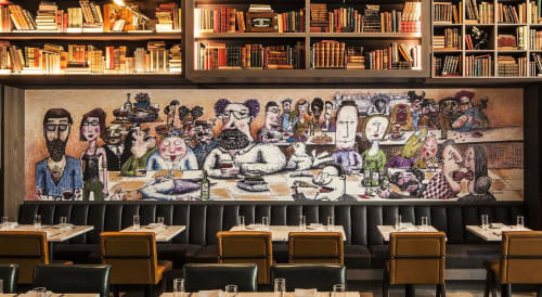 Murals by Jonathan Plotkin seen at Hotel EMC2, Autograph Collection, Chicago - Mural