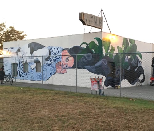 Murals by Roan Victor seen at Nichi Bei Bussan NB, San Jose - Reason to Stay