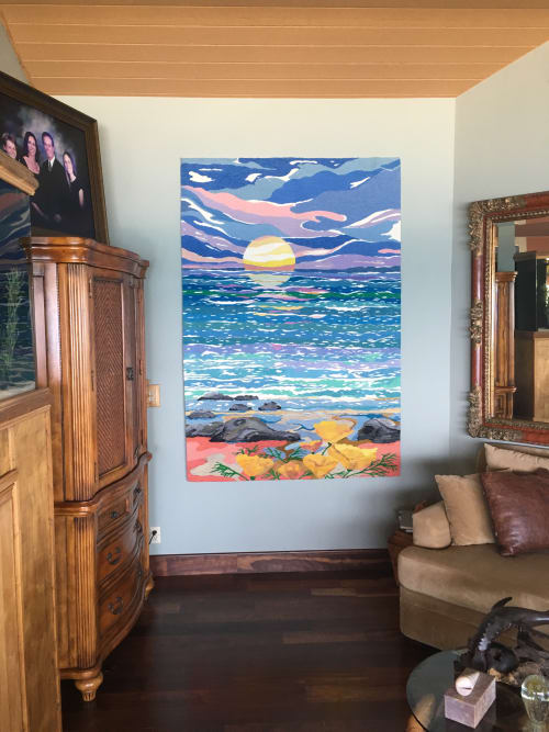 Wall Hangings by Ulrika Leander at Private Residence, Laguna Beach, CA, Laguna Beach - Serenity