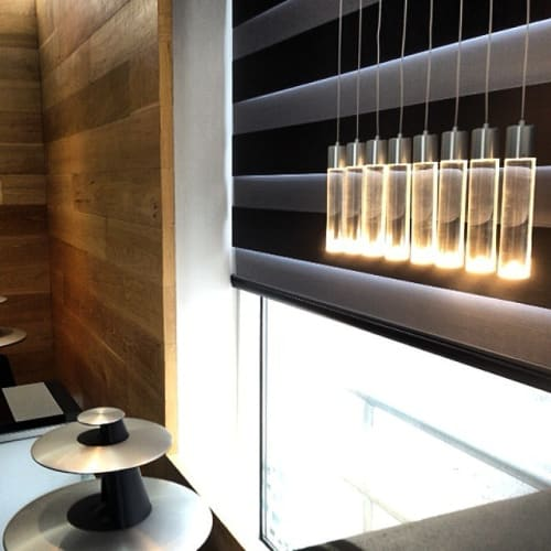 Chandeliers by Archilume seen at Bang & Olufsen Yorkville, Toronto - P8