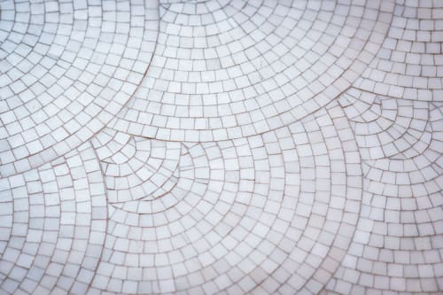 Public Mosaics by Gachot Studios seen at Little Park, New York - White Marble Mosaic Tiles
