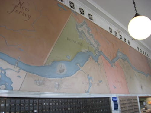 Murals by Charles Rosen seen at United States Post Office - Beacon, NY, Beacon - Views of Mid-Hudson Region
