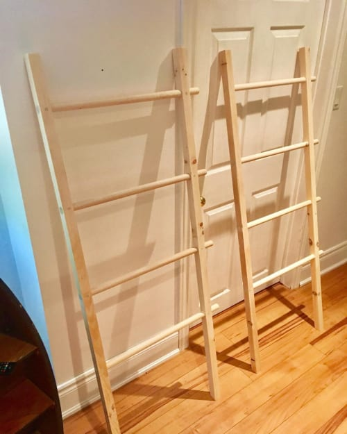 Furniture by Concannon Custom Woodwork seen at Private Residence - Blanket Ladder