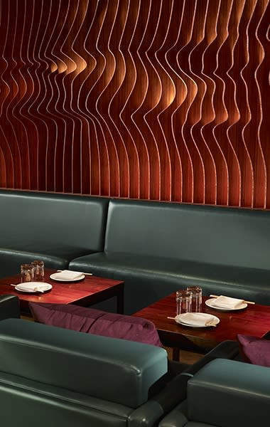 Benches & Ottomans by Arcanum Architecture seen at Roka Akor San Francisco, San Francisco - Leather Banquettes