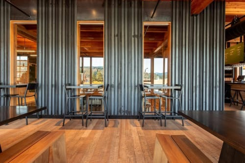 Chairs by Fyrn at Ferment Brewing Company, Hood River - Stanyan Bar Stool