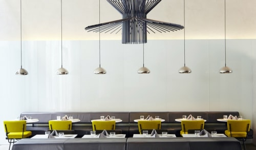Pendants by Tom Dixon seen at Hôtel Americano, New York - Void Pendant Steel lighting