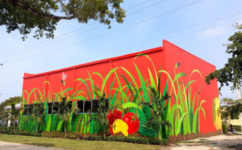 Street Murals by Rye Quartz seen at Delray Beach, FL, Delray Beach - Exterior Mural 3