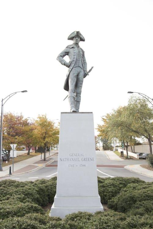 Public Sculptures by James Barnhill seen at 405 S Greene St, Greensboro - Nathanael Greene Statue