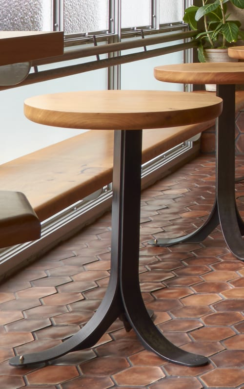 Tables by Wylie Price at The Progress, San Francisco - Custom Stools & Tables