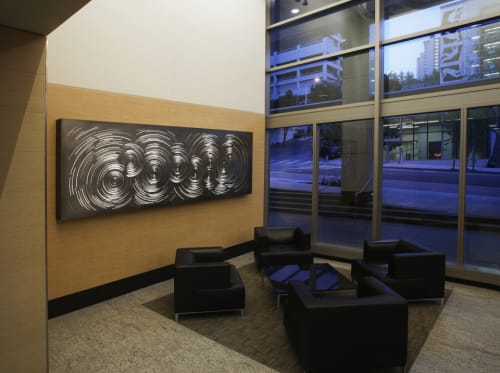 Sculptures by Anna Valentina Murch seen at King County Chinook Building, Seattle - Rotations
