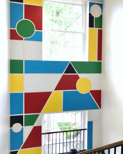 Murals by Adrien Saporiti seen at Private Residence, Nashville - Indoor mural